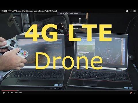4G LTE Raspberry PI Internet Drone. RC UAV plane using GamePad (4G Area)