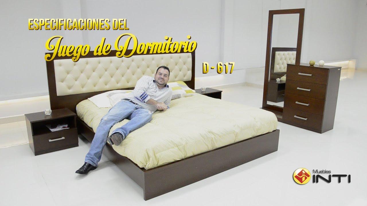 Juego de dormitorio d 617 youtube for Juego de dormitorio queen
