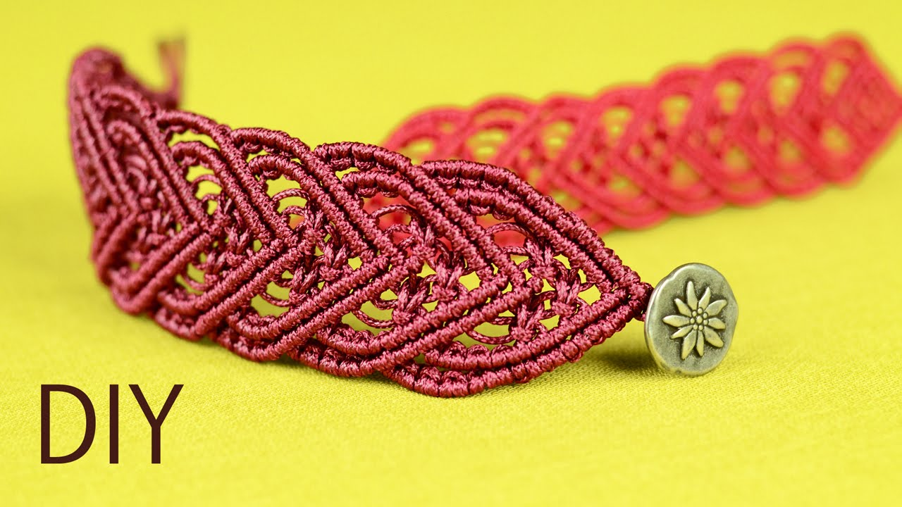 how to make a macrame flat pattern design