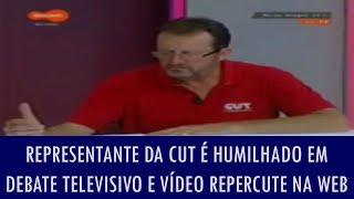 Representante da CUT é humilhado em debate televisivo e vídeo repercute na web