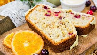 Cranberry Walnut Bread with Orange Glaze - Home &amp Family