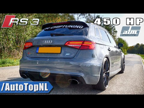 AUDI RS3 8V 450HP | DECAT Exhaust SOUND REVS & ONBOARD By AutoTopNL