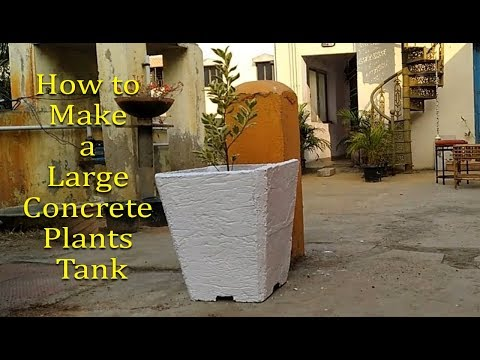 How to make large cement plant pots