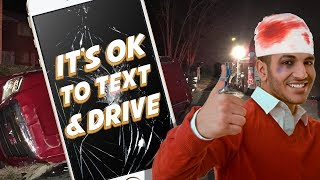 IT'S OK TO TEXT AND DRIVE? - Dude Soup Podcast #132