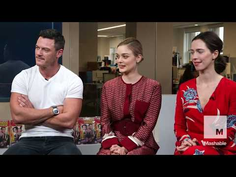 Luke Evans Rebecca Hall and Bella Heathcote LIVE with Mashable