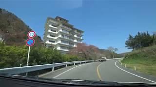 [車載動画]飯坂温泉十綱橋~穴原温泉まで(福島市)・4月,2019年