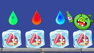 Angry Birds Frozen - UNFREEZE THE BIRD BY DROPPING COLOR WATER!