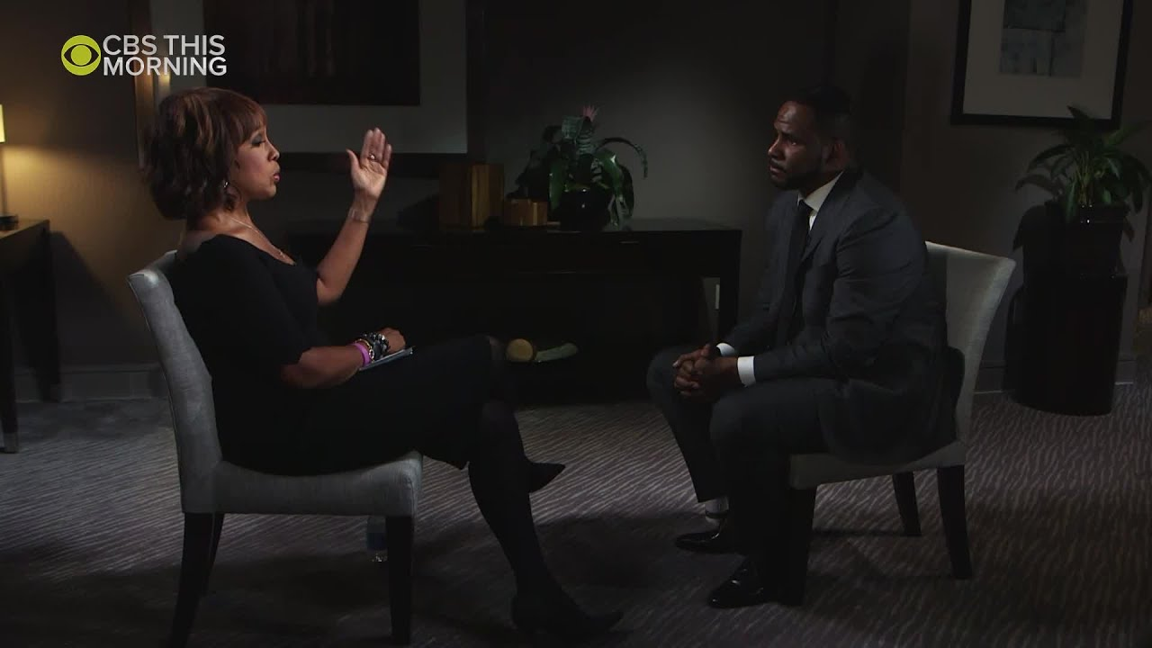 Gayle King With Cbs This Morning Interviews R Kelly Youtube