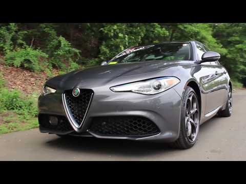 2018 Alfa Romeo Giulia Ti Sport Review - Start Up, Walk Around, and Test Drive