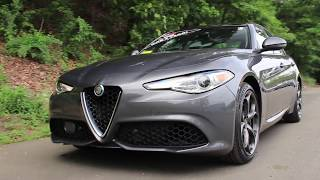 2018 Alfa Romeo Giulia Ti Sport Review - Start Up, Walk Around, and Test Drive