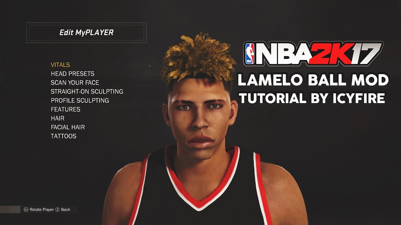 a3143623020de2 NBA 2K17 CHINO HILLS MOD  1 - LAMELO BALL CYBERFACE TUTORIAL