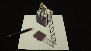 This is Impossible - Drawing 3D Absurd - Trick Art on Paper - Vamos