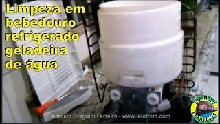 LIMPEZA EM BEBEDOURO REFRIGERADO/GELADEIRA DE ÁGUA - www.lelotrem.com - Marcelo Braguini Ferreira