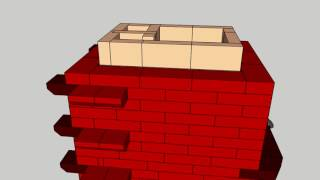 Masonry stove/ Soba clopote - model orientativ-