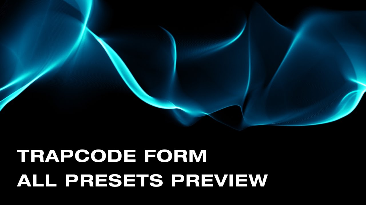 Trapcode Form Presets Preview After Effects Youtube