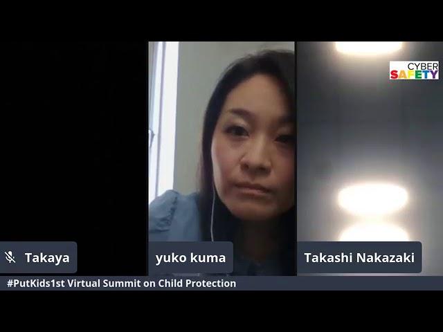 #PutKids1st virtual summit panel moderated by Takaya Terakawa, Cybersafety's Head of Country Japan