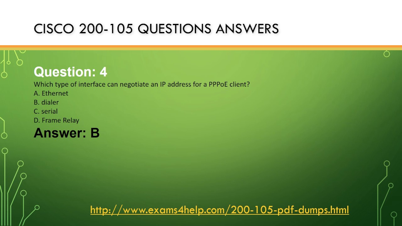 Download Cisco 200 105 Real Exam Questions Answers With 200 105 Pdf