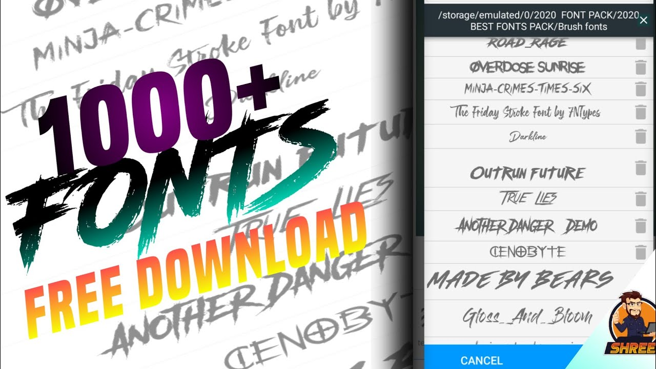Download Pixellab🔥2020 The Best New Font Pack ll new fonts 2020 ...