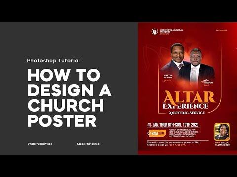 How To Design CHURCH FLYER Altar Experience Tutorial    Photoshop Tutorial