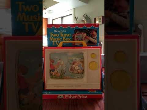 Fisher Price Two Tune Music Box TV