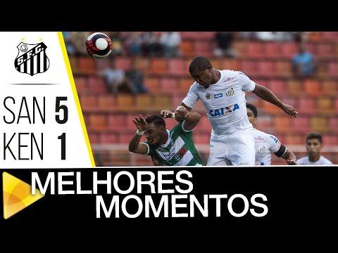 Santos 5 x 1 Kenitra | MELHORES MOMENTOS | Amistoso Internacional (28/01/17)