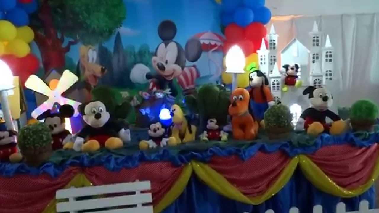 Mickey Tema Mickey Mouse para decoraç u00e3o de festa infantil YouTube