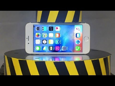 EXPERIMENT HYDRAULIC PRESS 100 TON vs iPhone