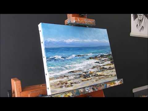 landscape oil painting on canvas, by Nathalie JAGUIN