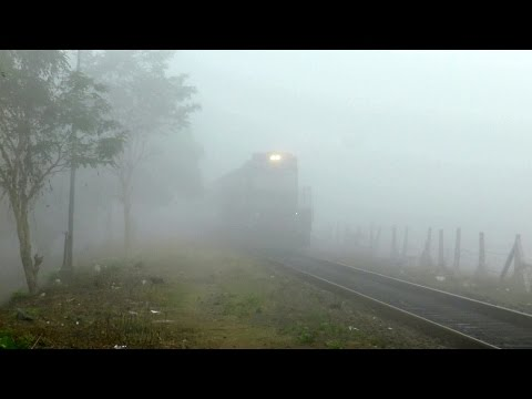 Train Operation In Zero-Visibility Foggy Conditions!!