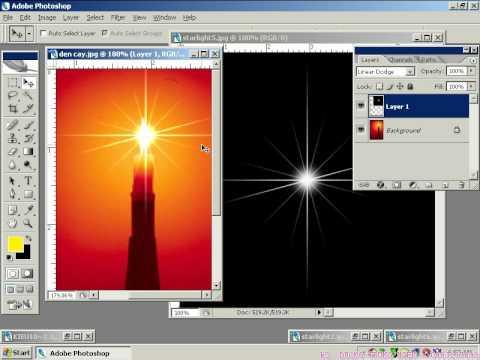 7iun Hướng Dẫn Phototoshop CS3 - Cách dựng ánh đèn