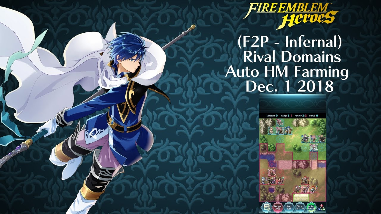 Feh Rival Domains Auto Hm Farming Dec 1 2018 Infernal 2 Turns 4 Units No 5 F2p