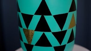 Diy: How To Create A Triangle Patterned Lamp For Under $52