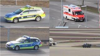 Einsatzfahrten und Einsatzfahrzeuge am Flughafen München