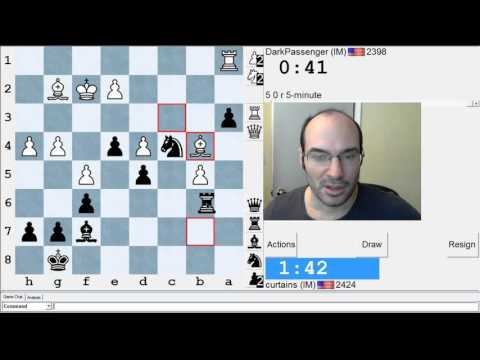 5 minute chess #519: IM DarkPassenger vs IM Greg Shahade