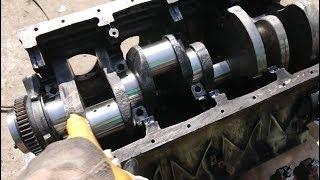 Сборка двигателя Камаз, укладка вала и поршневой! Микротрещина в головке! ч1