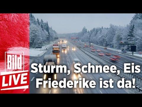 Sturm, Schnee, Eis - Friederike zieht über Deutschland - BILD Live 17.01.18