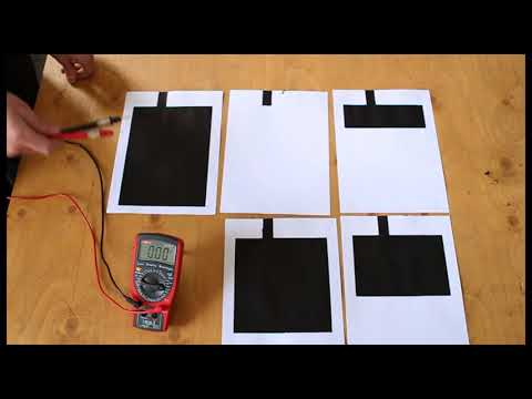 How to Make a Capacitor Using Paper and Electric Paint