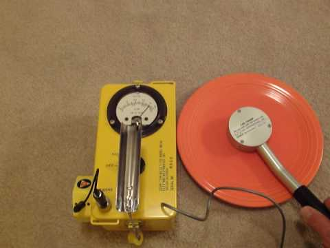 Geiger Counter Measuring Vintage Radioactive Red Fiestaware Dinner Plate