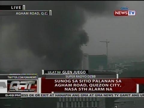 QRT: Sunog sa Sitio Palanan sa Agham Road, Quezon City, nasa 5th alarm na