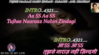 Tujhse Naraz Nahin Zindagi Lata Ji Karaoke Scrolling Lyrics Eng. & हिंदी