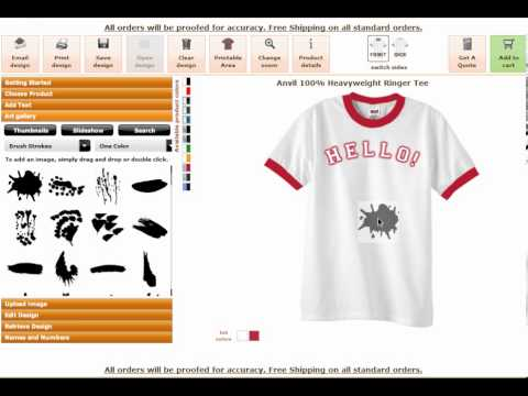 Online clothing designer software tool by Online clothing design software