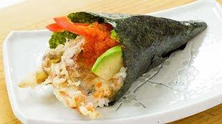 Soft Shell Crab Temaki Sushi - Hand Roll Sushi