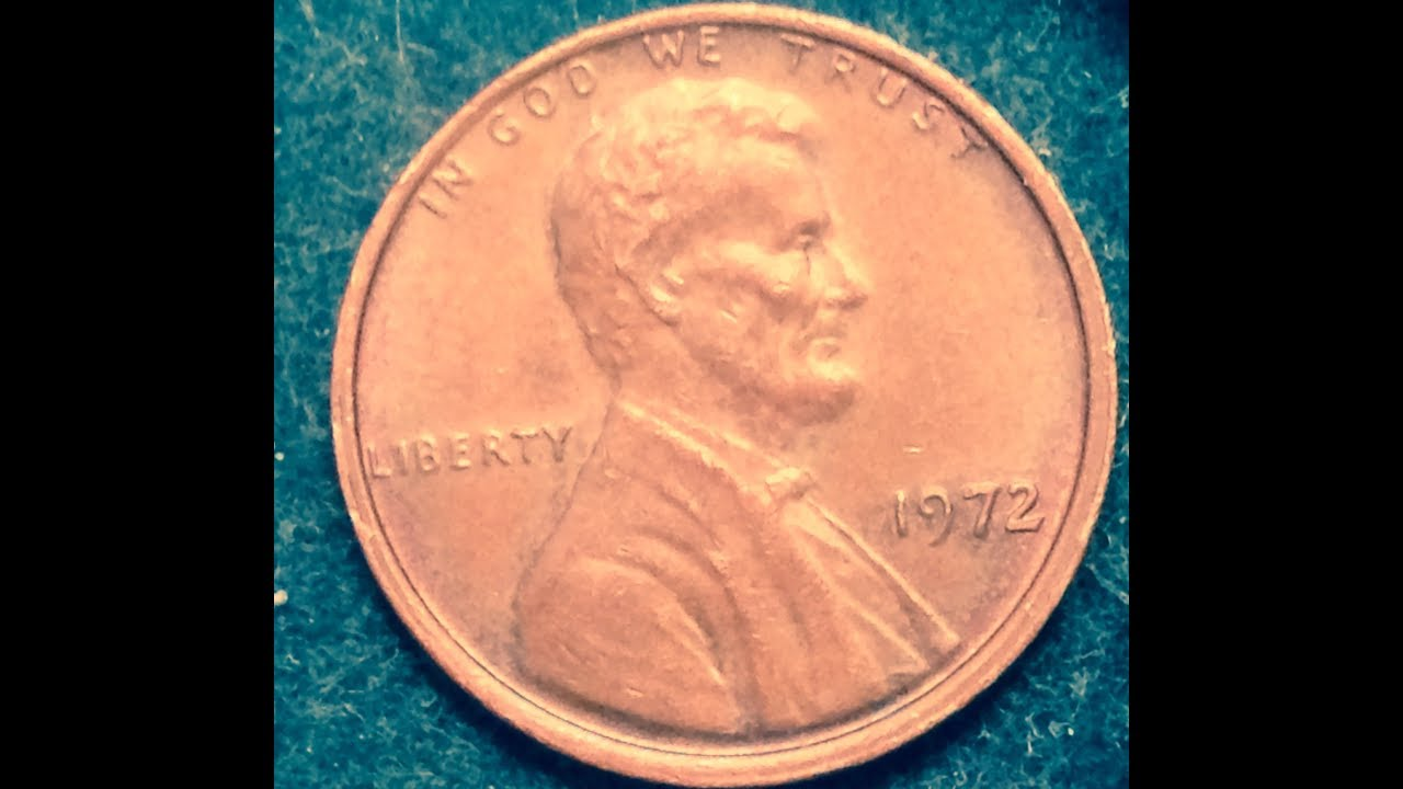 1972 Penny With Double Rim Error (Modern Penny With Many Errors)