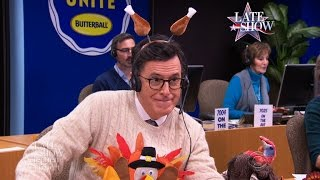 Stephen Colbert's Thanksgiving Turkey Tips (Part 2)
