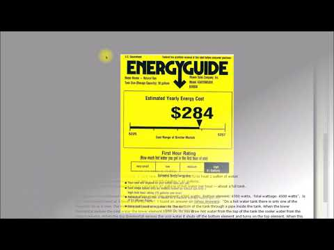 Energy Guide Labels, What's up with those?