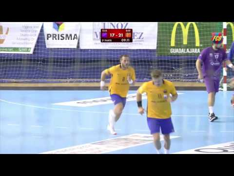 [HIGHLIGHTS] HANDBALL (Asobal): BM Guadalajara-FC Barcelona Lassa (25-34)