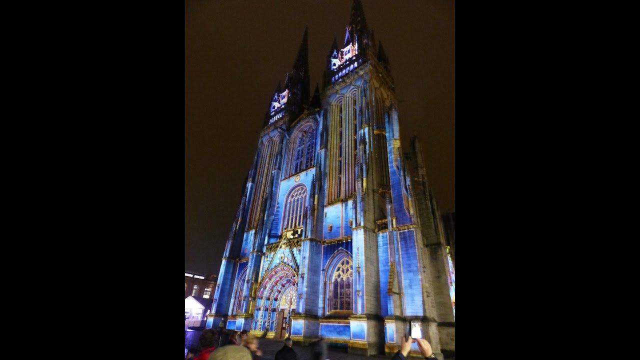 Les illuminations de la cath drale de quimper youtube for Illumination exterieure pour noel