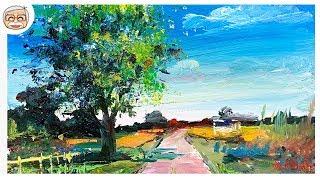 ASMR | Acrylic Landscape Painting | Calming art | Healing | Relax