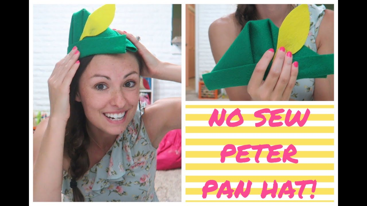 No Sew Peter Pan Hat Youtube