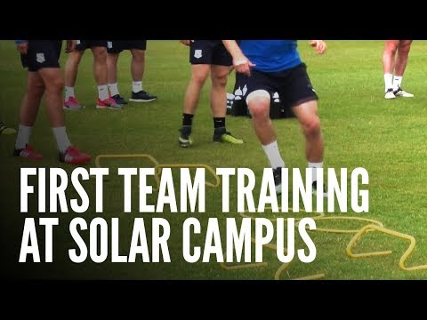 First Team Training At Solar Campus